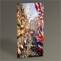 Tablo 360 Claude Monet Rue Montorgueil İn Paris 60X30