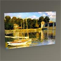 Tablo 360 Claude Monet Argenteuil'de Köprü Tablo 45X30