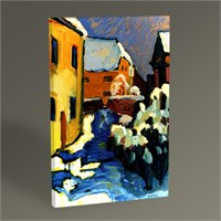 Tablo 360 Wassily Kandinsky Cemetery And Vicarage İn Kochel 45X30