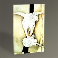 Tablo 360 Georgia O'keeffe Cow's With Calico Roses 45X30