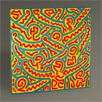 Tablo 360 Keith Haring Untitled 30X30