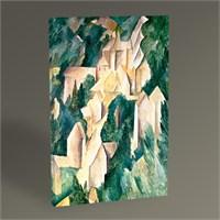 Tablo 360 Georges Braque Castle At La Roche-Guyon 45X30