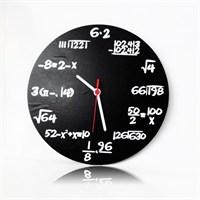 Köstebek Matematik Ahşap Duvar Saati