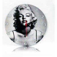 Köstebek Marilyn Monroe Ahşap Duvar Saati