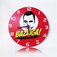 Köstebek The Big Bang Theory - Bazinga Ahşap Duvar Saati