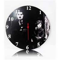 Köstebek Charlie Chaplin - The Kid Ahşap Duvar Saati