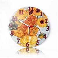 Köstebek Van Gogh - Sunflowers Ahşap Duvar Saati