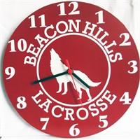 Köstebek Teen Wolf - Beacon Hills Lacrosse Duvar Saati Ahşap Duvar Saati
