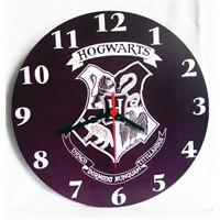 Köstebek Harry Potter - Hogwarts Duvar Saati Ahşap Duvar Saati