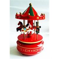 Köstebek Kırmızı Atlı Karınca Carousel Müzikli