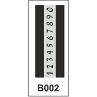 Atadan Hobi Sanatsal -Stencil B Serisi (10 X 25 Cm)
