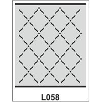 Atadan Hobi Sanatsal -Stencil L-Serisi (20 X 25 Cm)