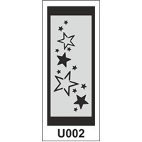 Atadan Hobi Sanatsal -Stencil U-Serisi (10 X 25 Cm)
