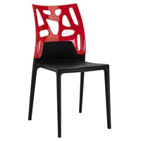 Papatya Ego Rock Sandalye Siyah Kırmızı