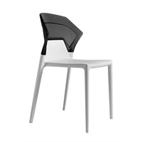 Papatya Ego Sandalye Siyah Beyaz