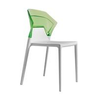 Papatya Ego Sandalye Yeşil Beyaz