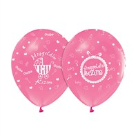 KullanAtMarket Hoşgeldin Kızım Pembe Balon