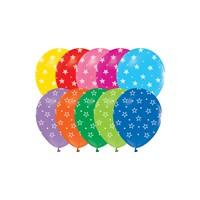 KullanAtMarket Yıldız Baskılı Renkli Balon