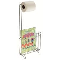 Bosphorus Tuvalet Kağıdı Ve Magazinlik Standı Krom Kaplamalı Paslanmaz Çelik 28,5X11x60,5Cm