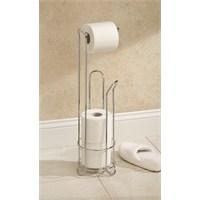 Bosphorus Tuvalet Kağıdı Standı Yedeklikli Krom Kaplamalı Paslanmaz Çelik 17,7X17,7X60,9 Cm
