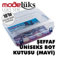 Modelüx Şeffaf Bot Kutusu Mavi 10 lu Paket