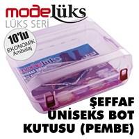 Modelüx Şeffaf Bot Kutusu Pembe 10 lu Paket