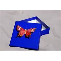 Mira Kelebek Detaylı Tasarım Kutu Mavi 10*10 Cm