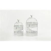 Yargıcı Porselen Dekoratif 2Li Kuş Kafesi