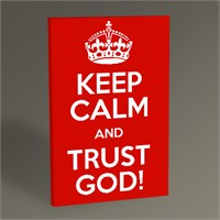 Tablo 360 Keep Calm And Trust God 45X30