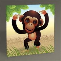 Tablo 360 Yavru Maymun Tablo 30X30