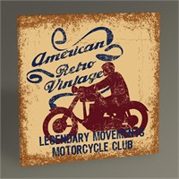 Tablo 360 Motosiklet Kulüp Afişi Tablo 30X30