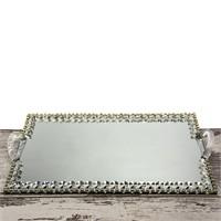 Mukko Home Aynalı Söz Nişan Tepsisi Sarı 40 X 25 Cm