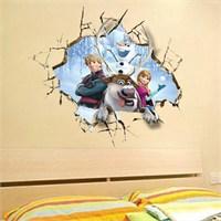 Modakedi Karlar Ülkesi Kahramanı Duvar Stickerı
