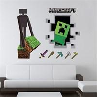 Modakedi Minecraft Steve Ve Aksesuarları 3D Duvar Sticker