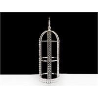 Lucky Art Gümüş Kristalli Raf - 65 Cm