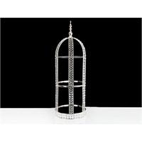 Lucky Art Gümüş Kristalli Raf - 78 Cm