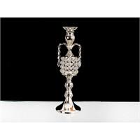 Lucky Art Gümüş Kristalli Şamdan - 41 Cm