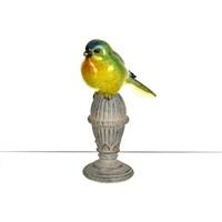 Lucky Art Renkli Kuş Biblo - 16 Cm