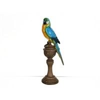 Lucky Art Renkli Kuş Biblo - 32 Cm