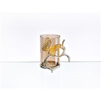 Lucky Art Gold Amber Kelebekli Vazo - Cd 021