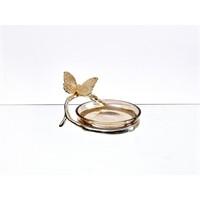 Lucky Art Gold Amber Kelebekli Tabak - Cd 018