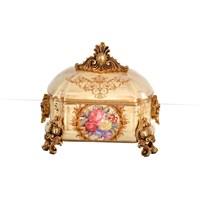 Lucky Art Krem Gold Kapaklı Kutu - Fx 049