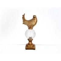 Lucky Art Bronz Kuşlu Küre Dekor - Pw 015