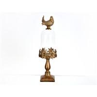 Lucky Art Bronz Kapaklı Fanus Dekor - Pw 014