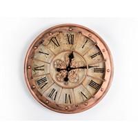 Lucky Art Bronz Mekanizmalı Duvar Saati - Uc 013