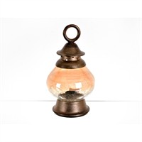 Lucky Art Bronz Amber Kapaklı Dekor - Tz 033
