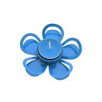 Gold Dekor Tealigt Mumluk Metal Çiçek Mavi