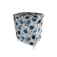 Fidex Home Deri Kirli Çamaşır Sepeti-Mavi
