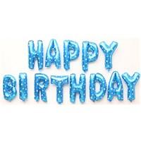 Partisepeti Happy Birthday Mavi + Pomba Folyo Balon