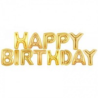 Happy Birthday Gold Folyo Balon